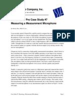Measuring a Measurement Microphone