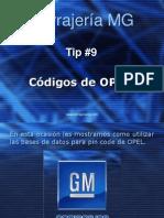 Tip 9 Codigos de Opel