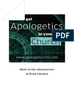 How to Get Apologetics in Your Church
