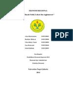 Wilayah Nodal, Lokasi Dan Aglomerasi