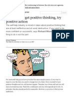 Self Help_ Try Positive Action, Not Positive Thinking _ Science _ the Observer