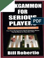 Backgammon for Serius Players- Bill Robertie