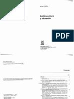 APPLE  Politica cultural y educacion .pdf