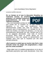 Entrevista Con El Profesor Ezra Heymann