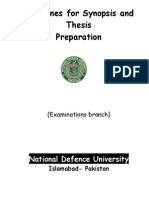 Guidelines for Thesis Preparation Website