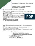 Scleroderma • Progressive Systemic Sclerosis:Inflammation, Vascular Sclerosis, Fibrosis of Skin