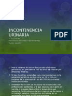 Clase Incontinencia Urinaria