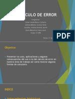 Calculo de Error Presentación
