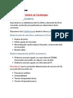 Clínica Médica Módulo Cardio - Tema Cardiopatía Isquémica