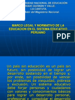 Marco Legal Del Sistema Educativo Peruano