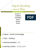 Listening & Speaking Lesson Plan