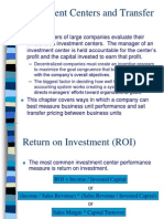 Chapter 13 Investment Centre and Transfer Pricing