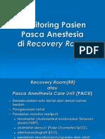 Monitoring Pasien Pasca Anestesia Di Recovery Room