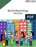 IGNOU Social Psychology (Attitudes) (MPC-004)