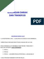 Golongan Darah Dan Transfusi