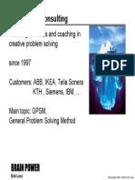 Creative Problem Solving - Lenz - Brain Power Consulting
