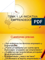 Tema 1 Iniciativa Empresarial