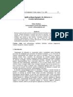 Principiile Psihopedagogice de Elaborare a Testelor Informatizate