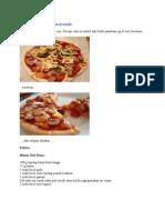 Mari Belajar Membuat Pizza Di Rumah