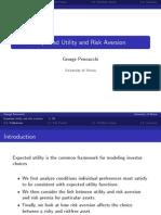 Expected Utility and Risk Aversion George Pennacchi University of Illinois