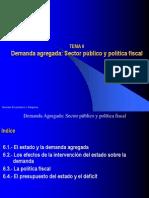 Tema_6. Demanda Agregada Sector Publico y Politica Fiscal