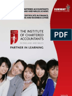 Sunway University College THE INSTITUTE OF CHARTERED ACCOUNTANTS (ICAEW) programme 2010