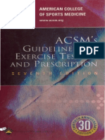 Acsm's Guidelines for Ex. Testing & Prescri