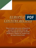 European Country Recipes