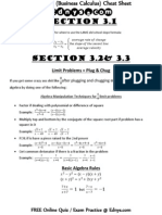 MAC2233 Cheat Sheet