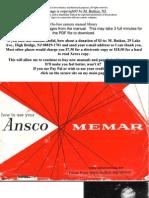 Ansco Memar manual