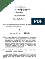 Republic Act no. 9700 (RA 6657 CARP Law amended