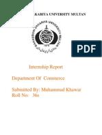 Internship report on Ufone