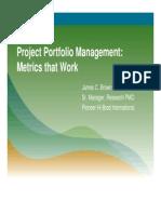 Project Portfolio Management March 2011