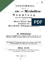 Verzeichniss der Münzen- und Medaillen-Sammlung aus der Verlassenschaft des Herrn Franz Joseph Freyherrn von Bretfeld-Chlumczanzky. Abth. II