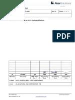 Load List for B127 Cluster Well Platform