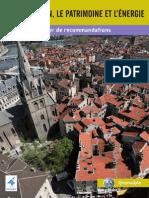 Bati Ancien Cahier de Recommandations Techniques Et Architecturales