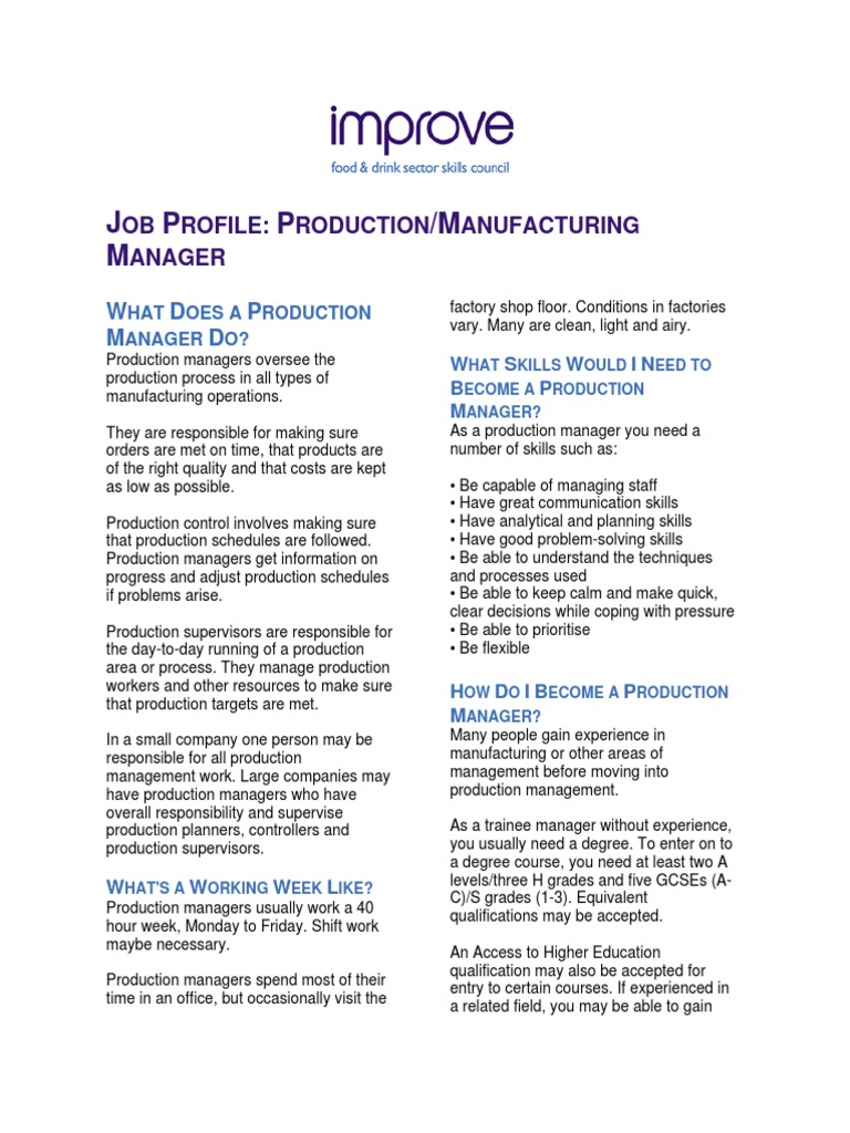 production manager diploma academic certificate