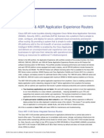 Cisco ISR & ASR Application Experience Routers