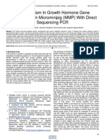 Polymorphism in Growth Hormone Gene Sequence From Microminipig Mmp With Direct Sequencing Pcr