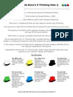Creativity- Six Thinking Hats