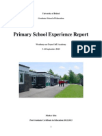 Primary School Report