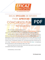Eficaz Concursos - Dicas de Estudo (Prof. Eduardo Costa)