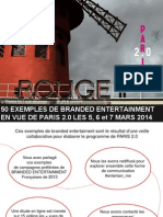 50 Exemples de Branded Entertainment by jeremy dumont, planneur strategique en vue de PARIS 2.0 a La Gaite Lyrique #Entertain_me