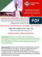 CCPMoquegua EDGAR IBARRA AYERBE Modernización y Descentralización Del Estado, Oct 2013