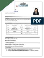 Sushmita Resume