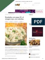Ensaladas Con Papa (2)- Al Vinagre Rojo, Con Cebolla