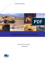 Tailings Storage Facilities Management 2004