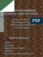 Musculoskeletal Upper