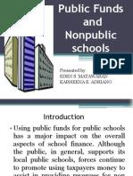 ADRIANO - Public Funds and Non Public Education