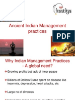 Ancient Indian Management Practices